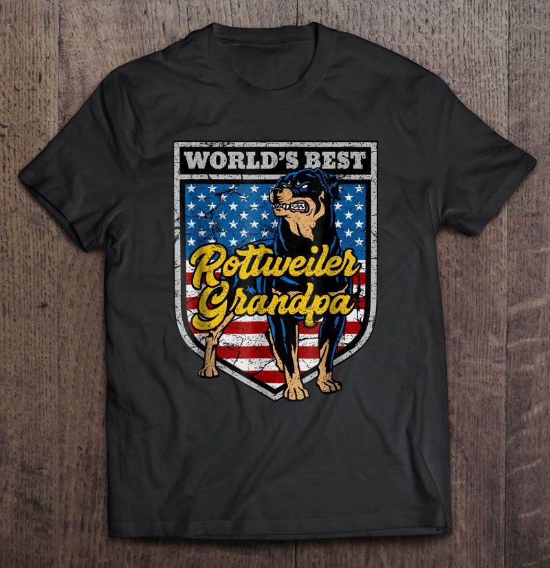 Clickbuypro 2d T-shirt Mens Worlds Best Rottweiler Grandpa Tshirt Shirt Red Swearter 3xl