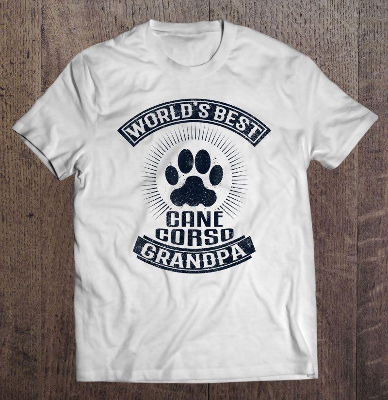 Clickbuypro 2d T-shirt Mens Worlds Best Cane Corso Grandpa Shirt Blue Swearter M