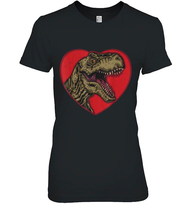 T-Rex Love Heart Dinosaur Valentines Day Hoodie