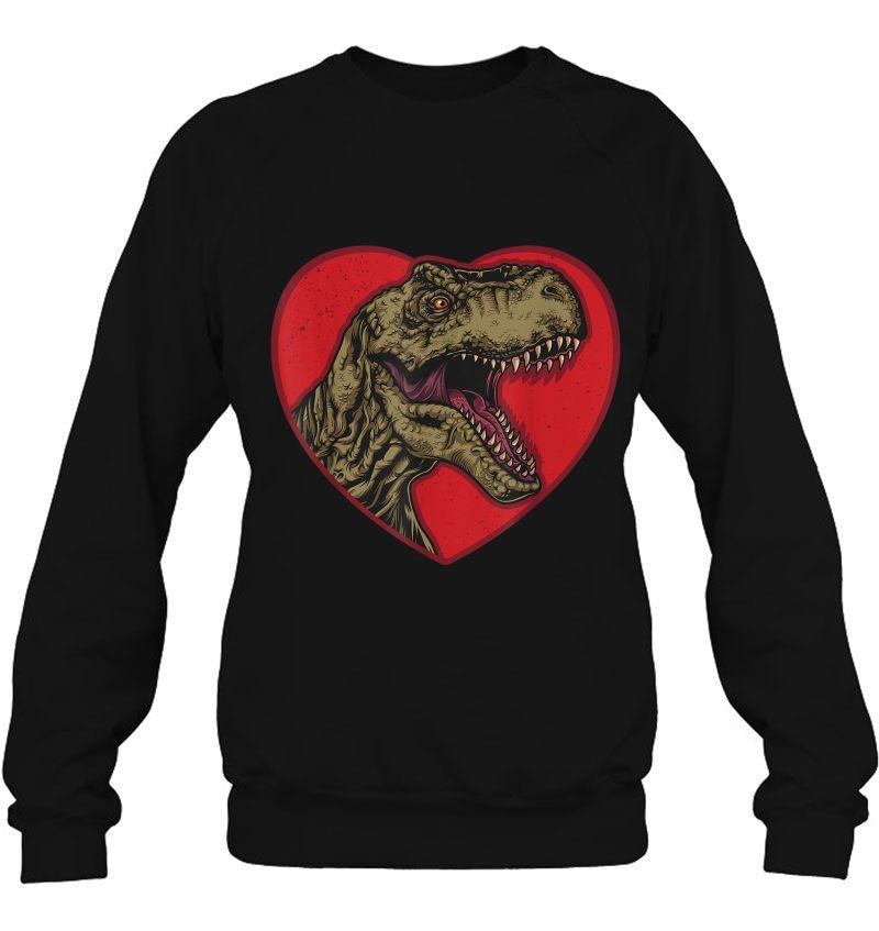 T-Rex Love Heart Dinosaur Valentines Day Mugs