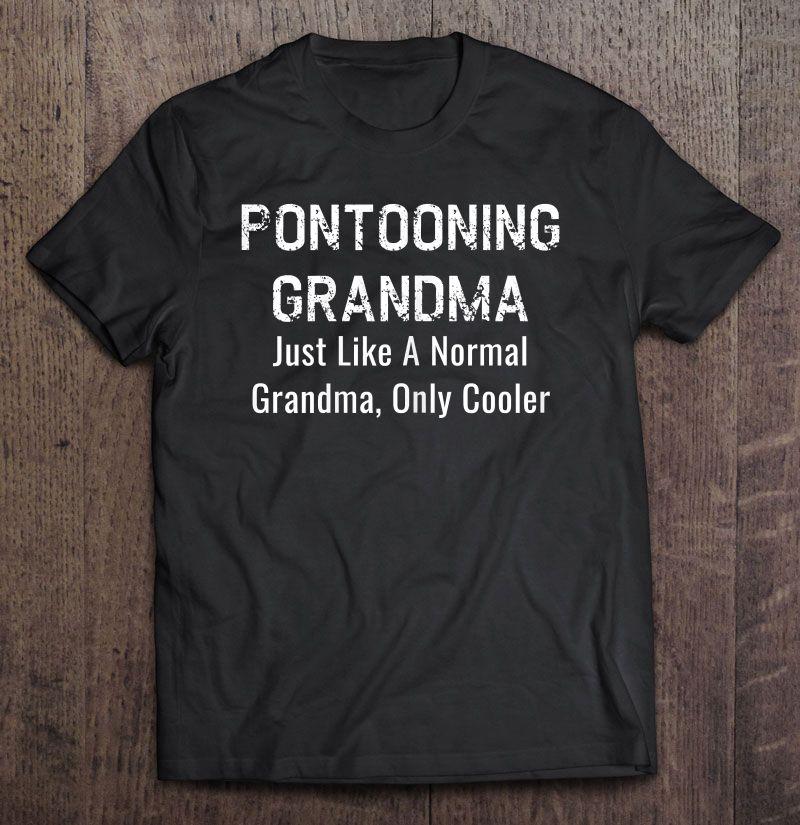 Clickbuypro 2d T-shirt Womens Funny Pontooning Grandma Pontoon Boat Lover Shirt Blue Swearter L