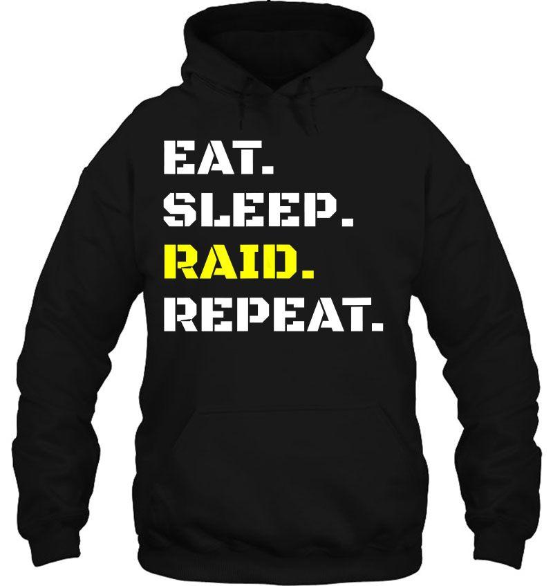 Eat Sleep Raid Repeat Video Gaming Wow Raiding Rpg Gift Mugs