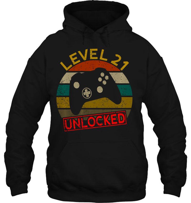 Level 21 Unlocked First 21St Birthday Anniversary Men Women Pullover Hoodie Mugs