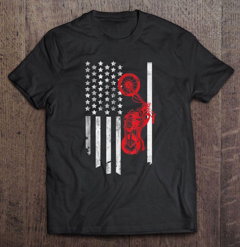 American Flag Motorcyclist Shirt
