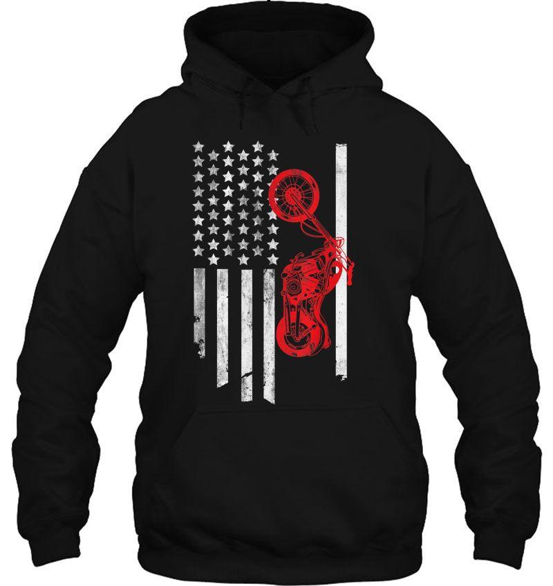 American Flag Motorcyclist Mugs
