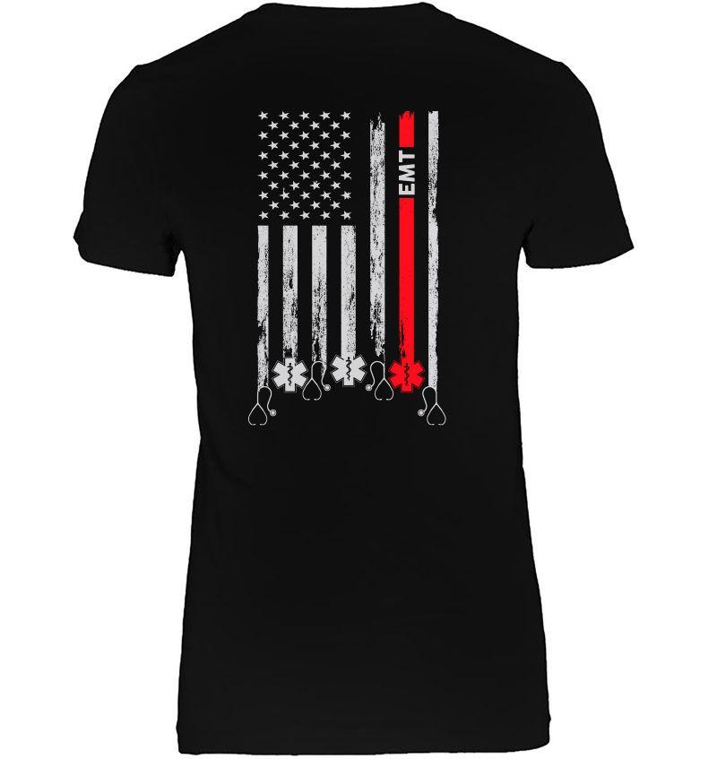 EMT Emergency Medical Technician American Flag Version Hoodie