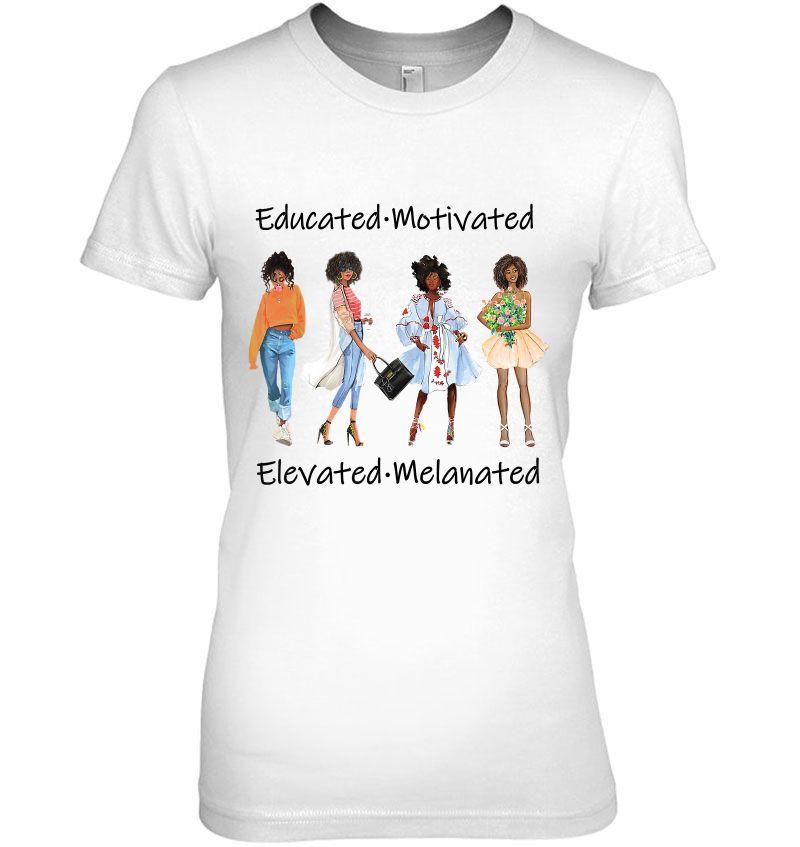 Educated Motivated Elevated Melanated Hoodie