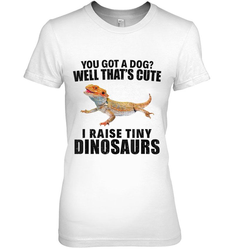 You Got A Dog I Raise Tiny Dinosaurs White Version Hoodie