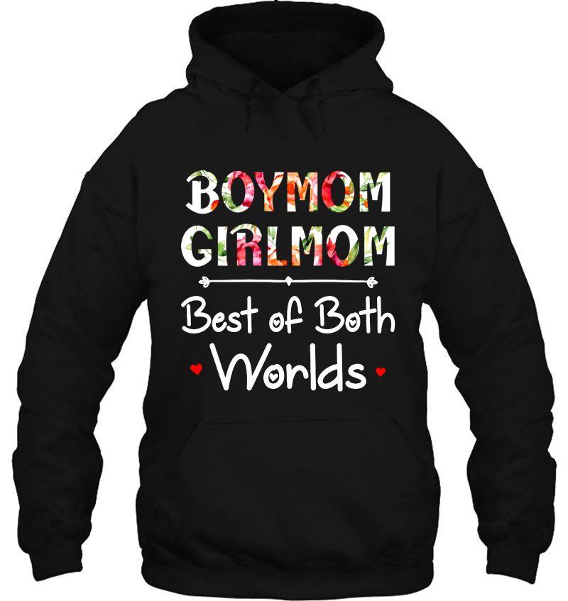 Boymom Girlmom Best Of Both Worlds Floral Version Mugs