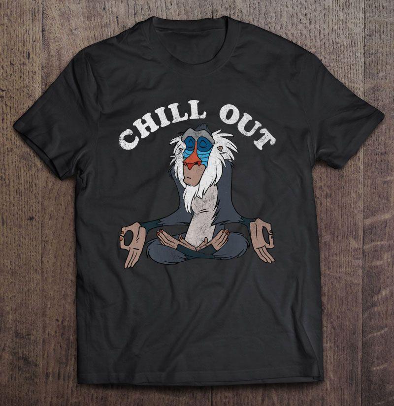 Chill Out Meditation Disney Lion King Rafiki Shirt