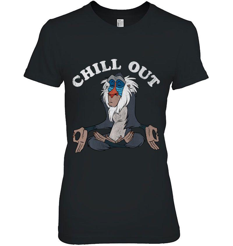 Chill Out Meditation Disney Lion King Rafiki Hoodie