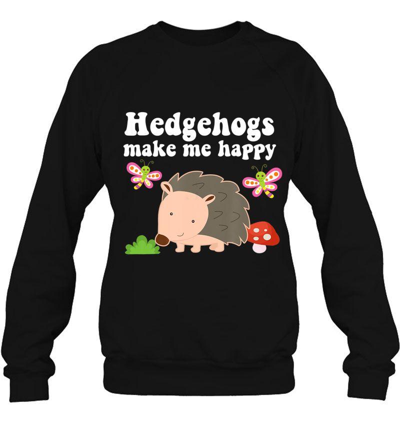 Hedgehogs Make Me Happy Cute Hedgehog Version Mugs