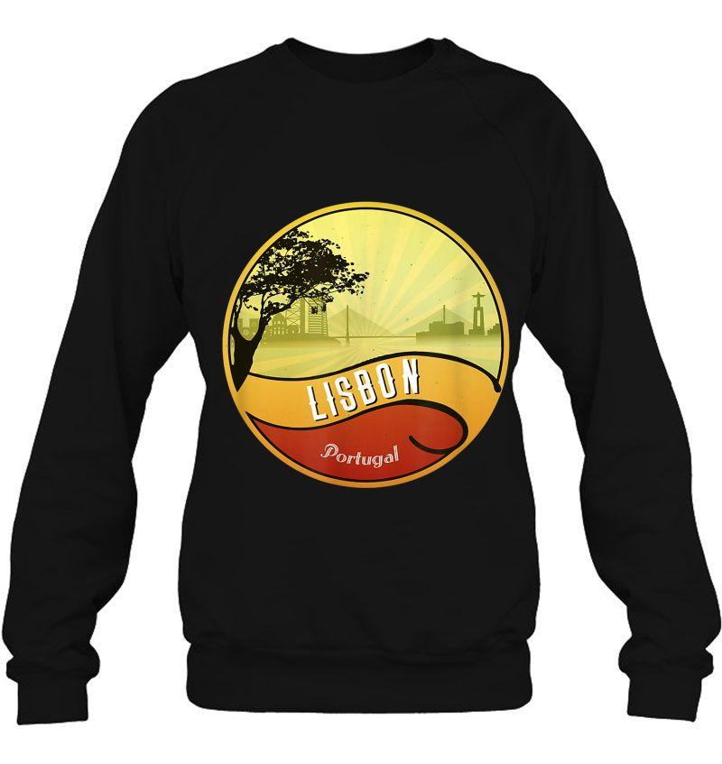 Lisbon City Vintage Long Sleeve T-Shirt