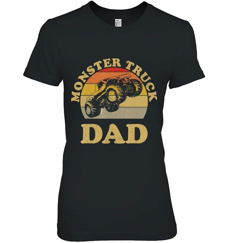 Monster Truck Dad Vintage Version Hoodie