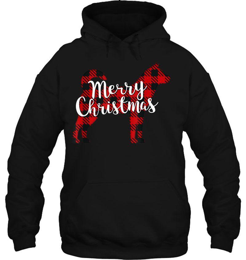 Merry Christmas Korean Jindo Silhouette Plaid Version Mugs