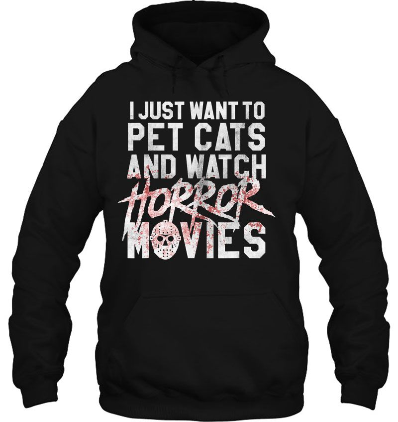 I Just Want To Pet Cats And Watch Horror Movies Jason Voorhees Mask Version Mugs