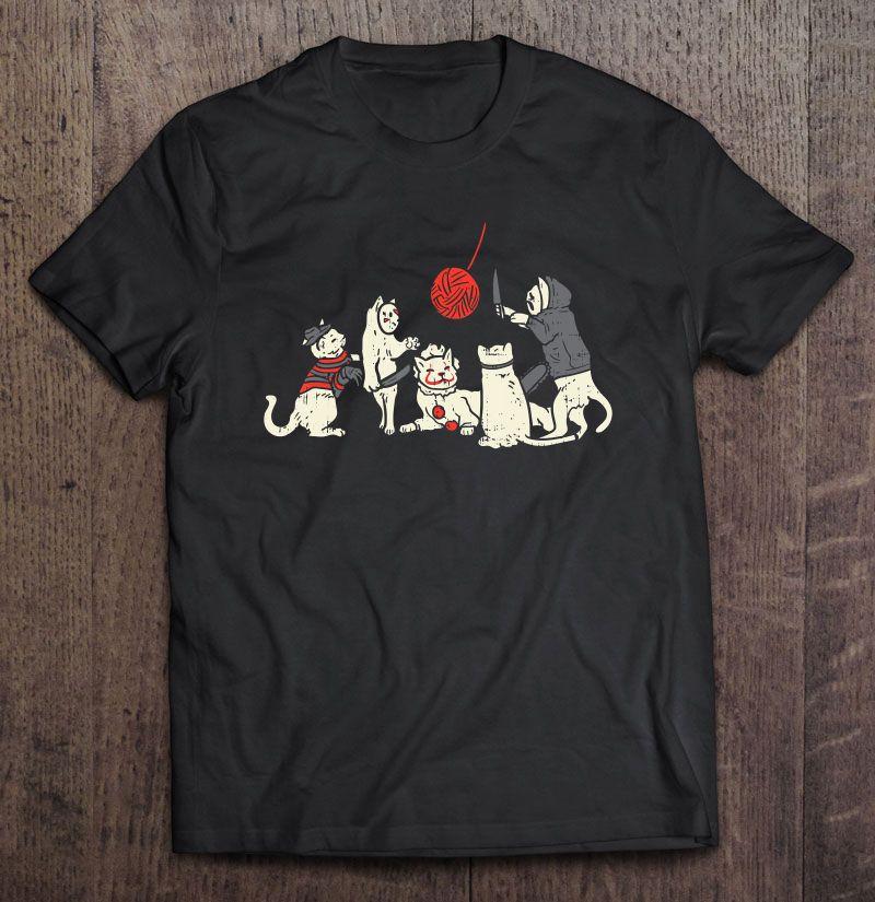 Scary Cute Horror Clown Cats Shirt