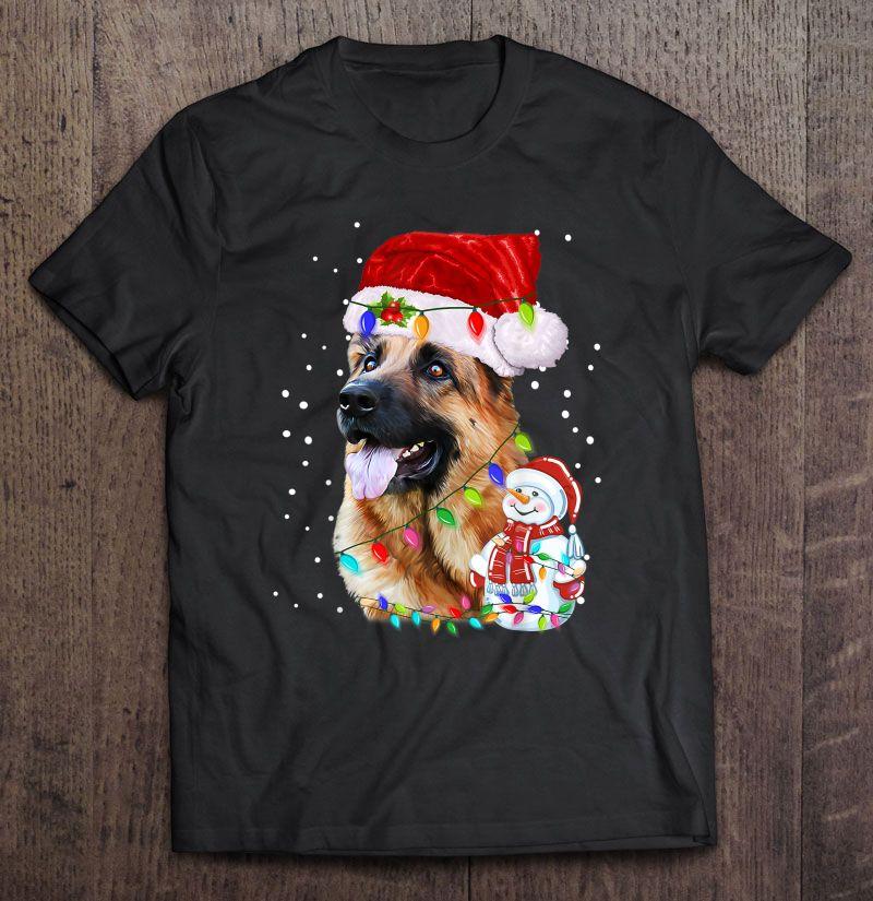 German Shepherd Christmas Santa Hat Shirt