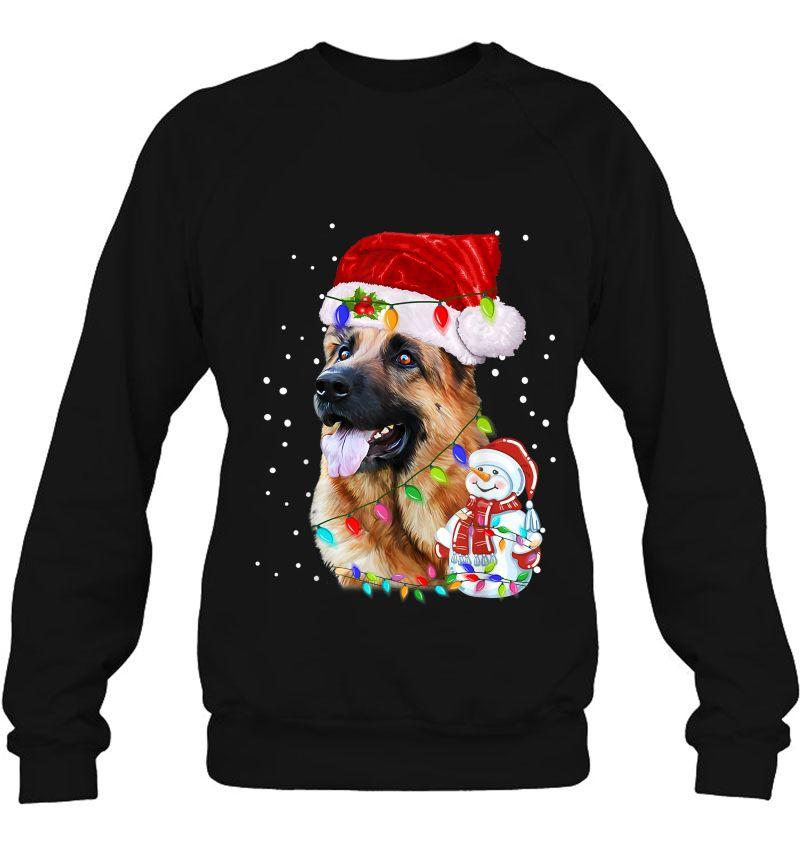 German Shepherd Christmas Santa Hat Mugs