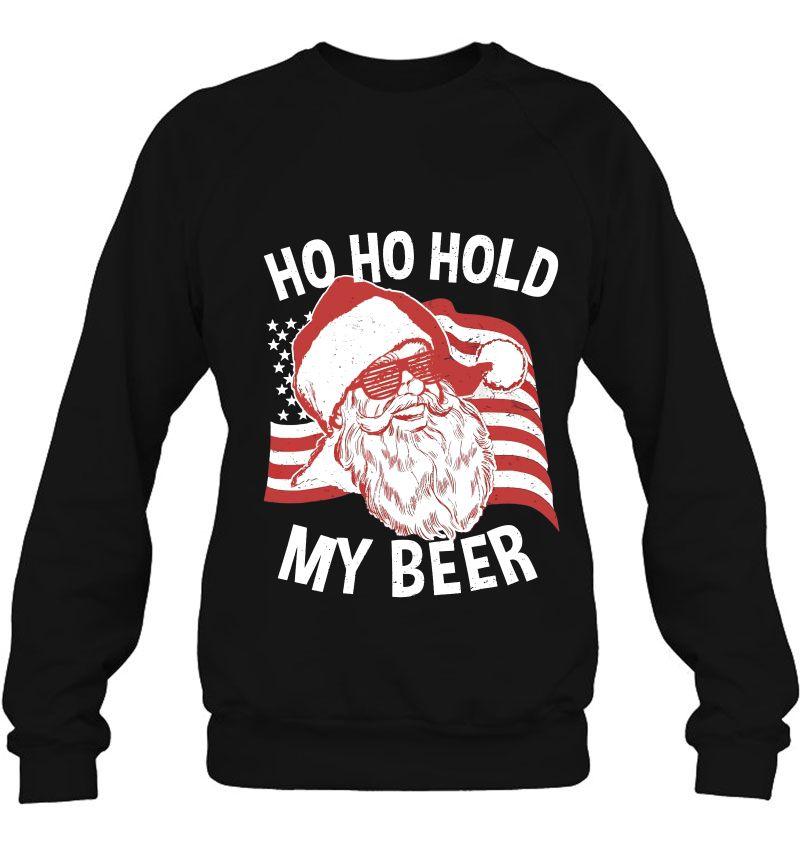 Ho Ho Hold My Beer Santa American Flag Version Mugs