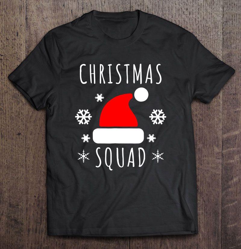 Christmas Squad Santa Hat Shirt