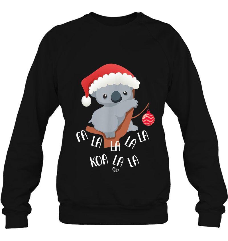 Fa La La Koala Cute Koala Bear In Christmas Hat Mugs
