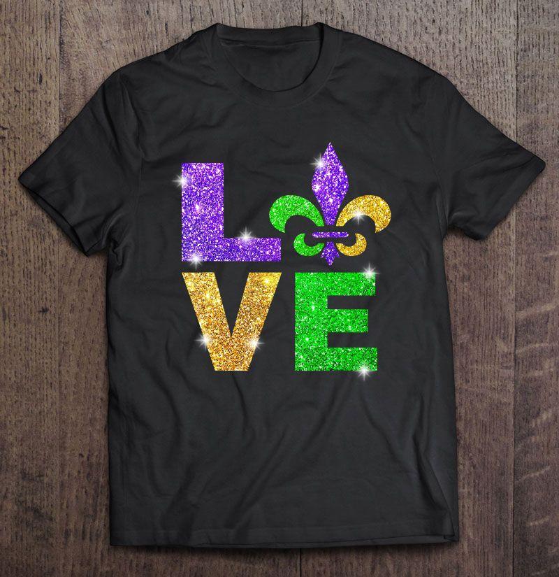 Mardi Gras Purple Gold Green Fleur De Lis Mens T Shirt