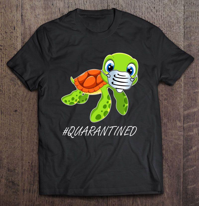 Quarantined Sea Turtle Wear Face Mask Version