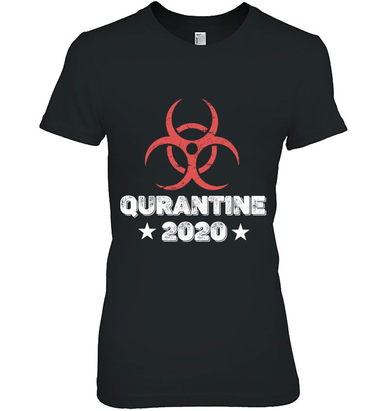 Quarantine 2020 Bio-Hazard Distressed Community Awareness Hoodie