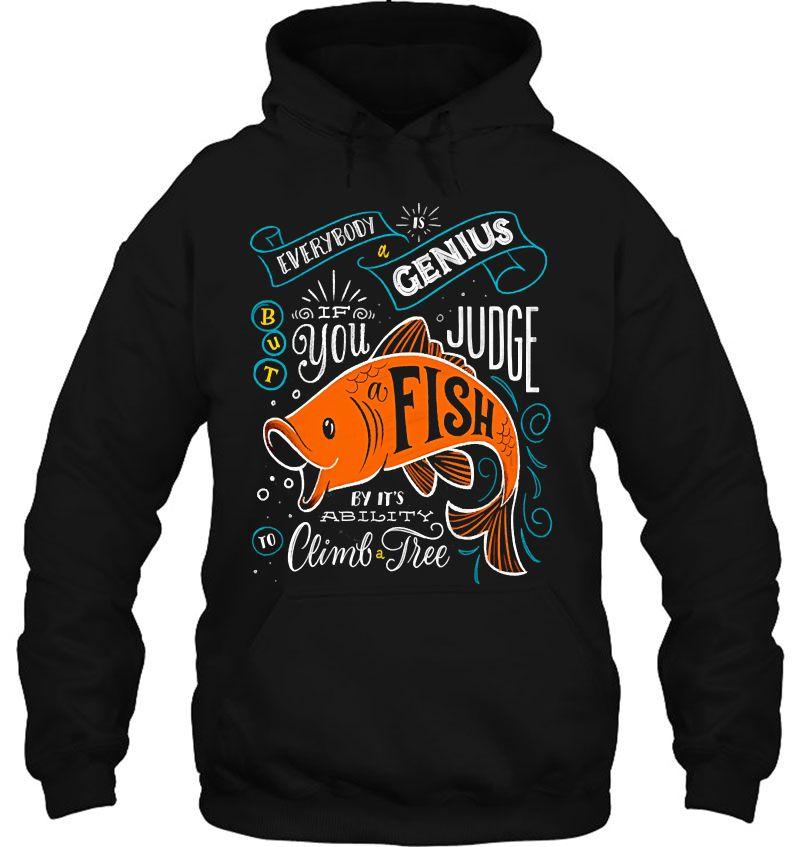 Everybody Is A Genius But Fish Judge Mugs