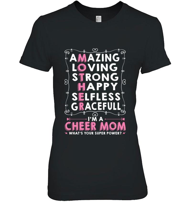 Cheer Mom Mother&39;S Day Tee Hoodie