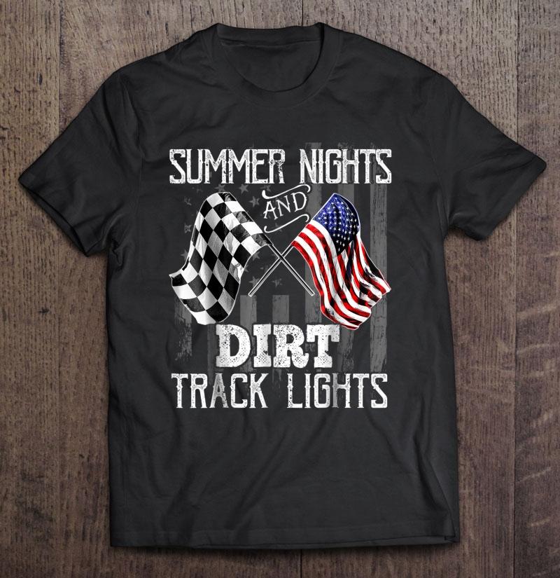 Summer Nights Dirt Track Lights Racing Motocross Shirt