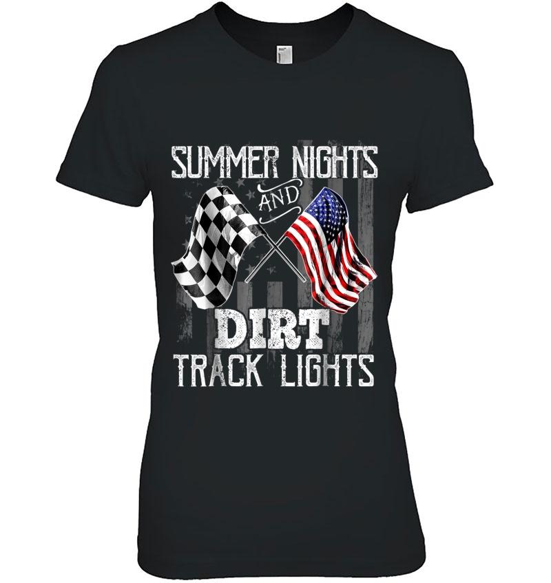 Summer Nights Dirt Track Lights Racing Motocross Hoodie