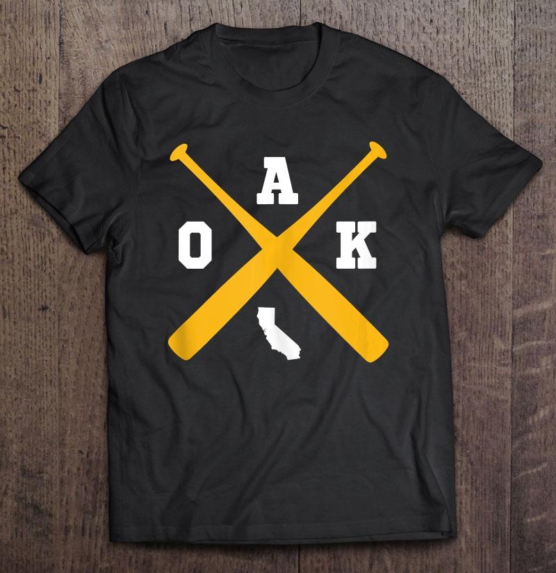 Vintage Oakland Baseball Bats Oak State Outline Tank Top Shirt