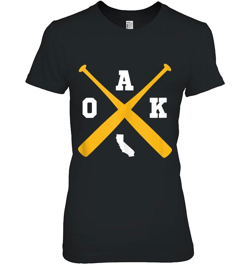 Vintage Oakland Baseball Bats Oak State Outline Tank Top Hoodie