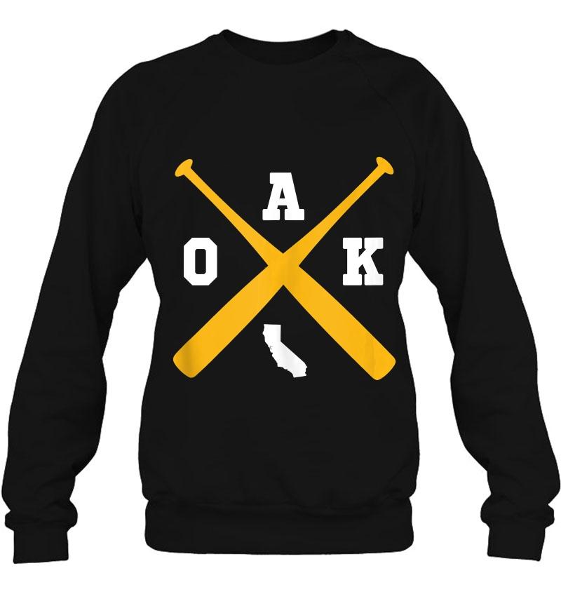 Vintage Oakland Baseball Bats Oak State Outline Tank Top Mugs