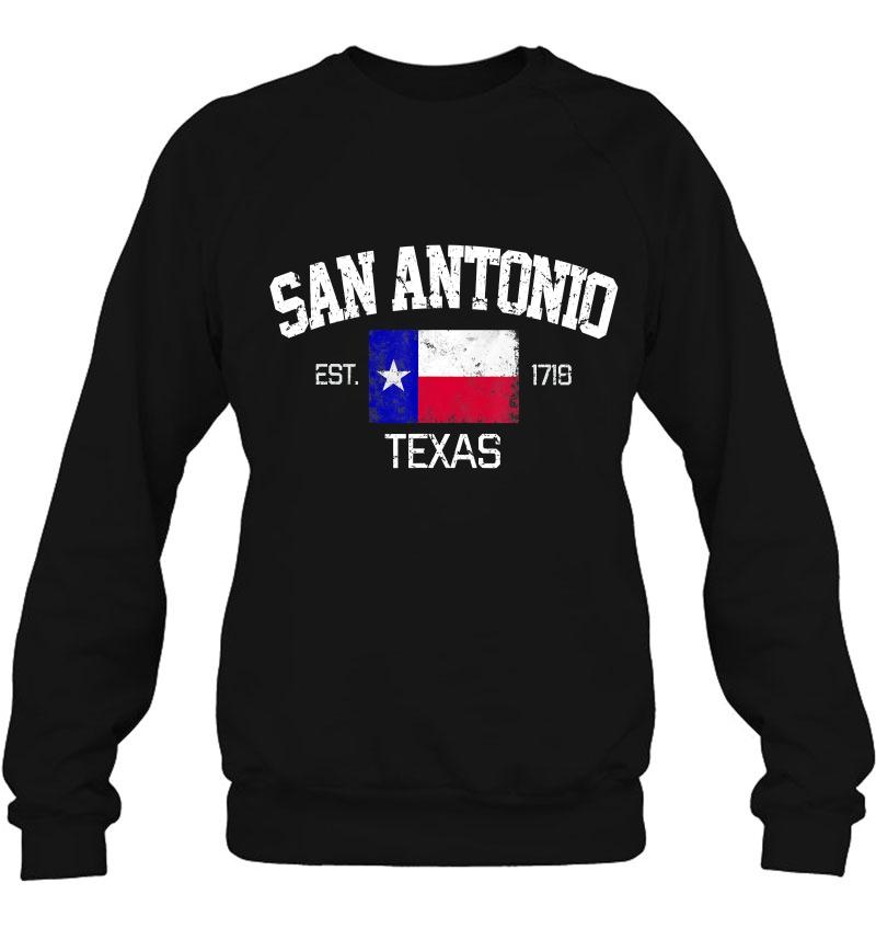 Vintage San Antonio Texas EST 1718 Souvenir Gift Sweatshirt