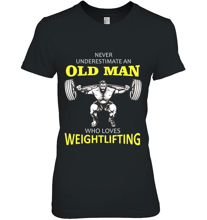 Mens Old Man Weightlifting Hoodie