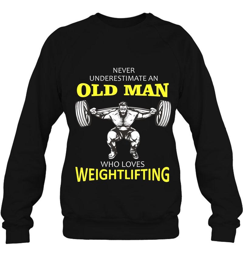 Mens Old Man Weightlifting Mugs