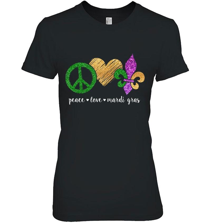 Peace Sign Heart Fleur De LYS Hippie Peace Love Mardi Gras Unisex Hoodie