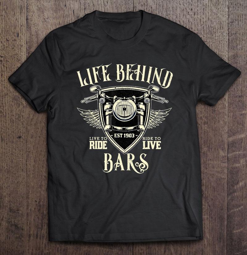 Life Behind Bars Motorbike HOODIE hoody birthday biker rider motorcycle gift