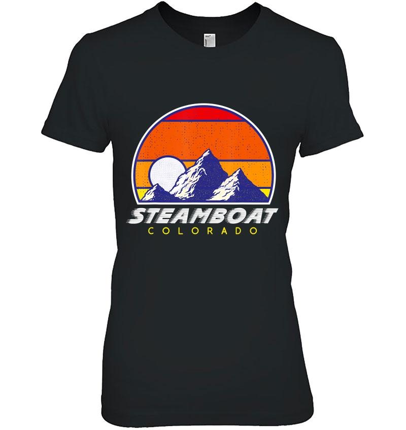 Colorado USA Ski Resort 1980s Retro Sweatshirt Steamboat