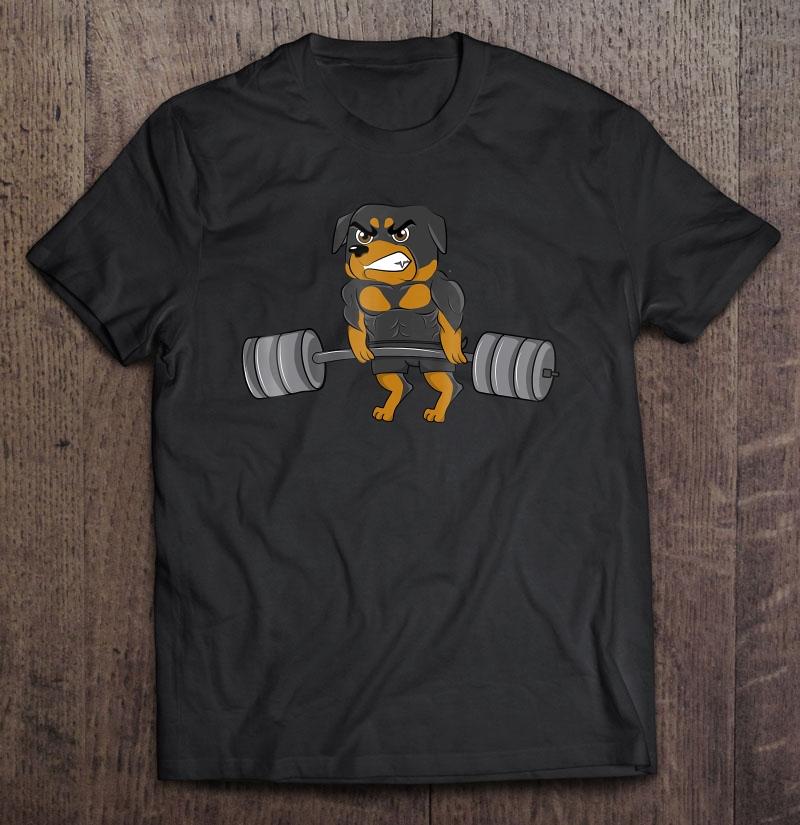 Rottweiler Weightlifting Bodybuilding Shirt