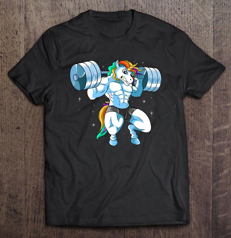 Unicorn Weightlifting Squads Bodybuilding Shirt