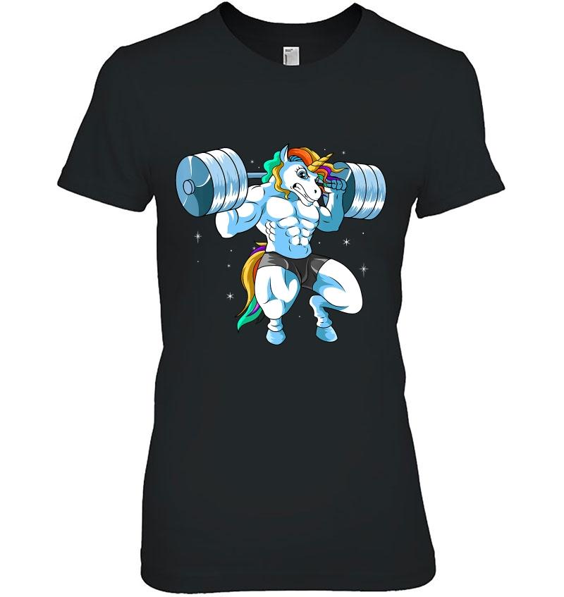 Unicorn Weightlifting Squads Bodybuilding Hoodie