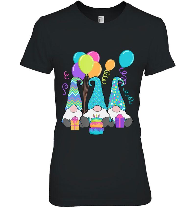 3 Birthday Gnomes Birthday Cake, Presents, Confetti Hoodie