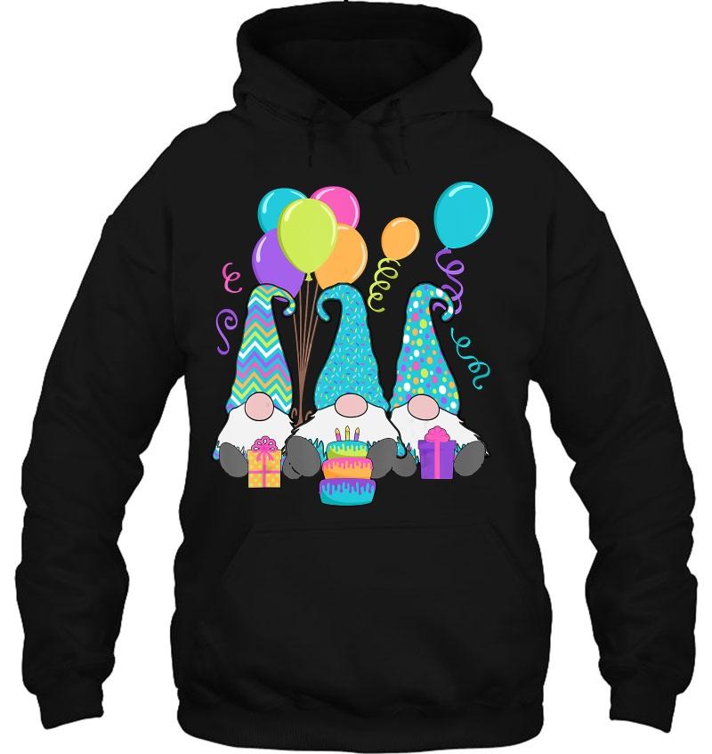 3 Birthday Gnomes Birthday Cake, Presents, Confetti Mugs