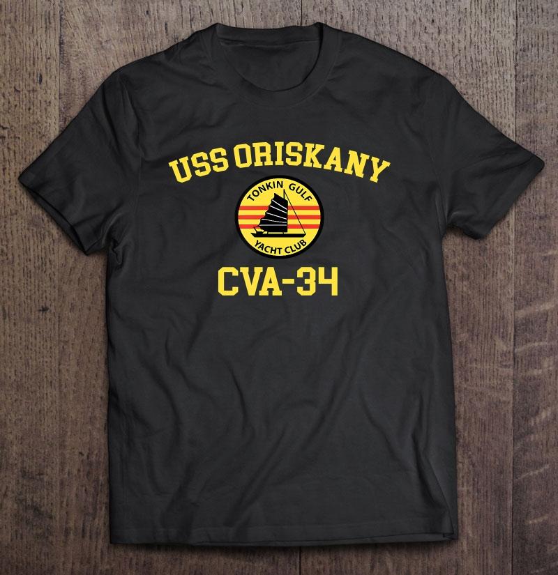 Military USS ORISCANY CVA-34 Ship Polo Shirt