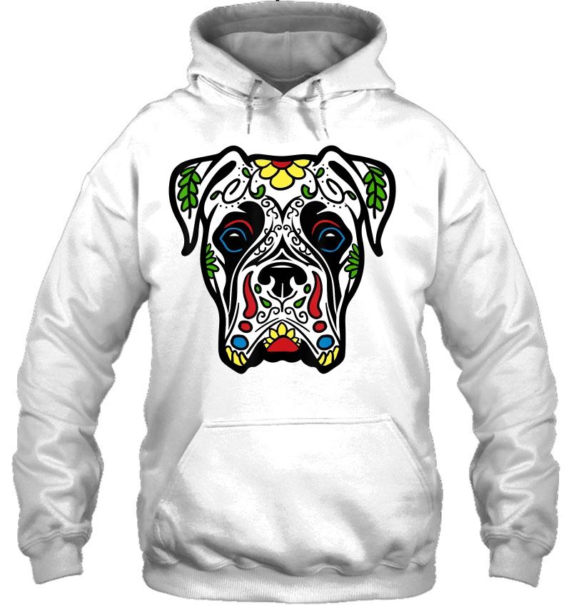 Boxer In White - Dead Sugar Skull Dog Gift Mugs