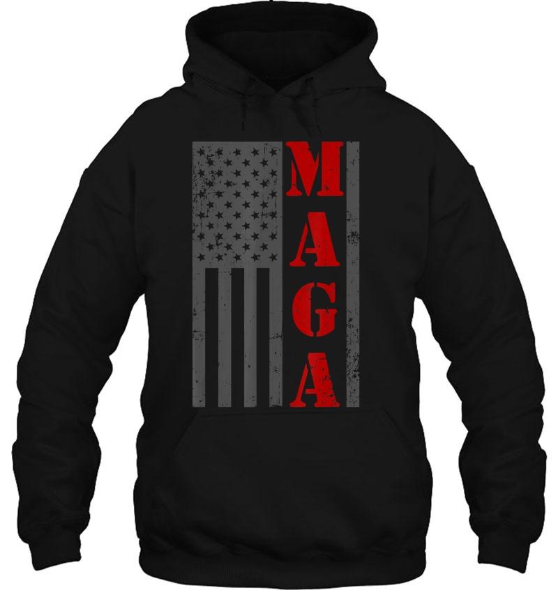 Maga Flag Shirt Gray And Red Distressed American Flag Mugs